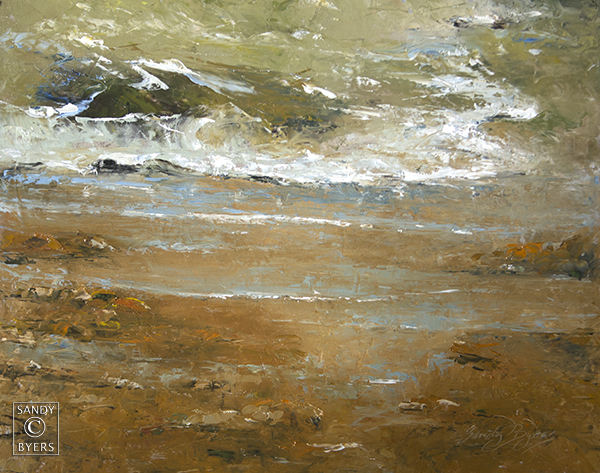 Stoney Beach $1100 (16x20 oil on panel). just outside my door; ever the changing tide. she crosses all boundaries and rests on rocks.