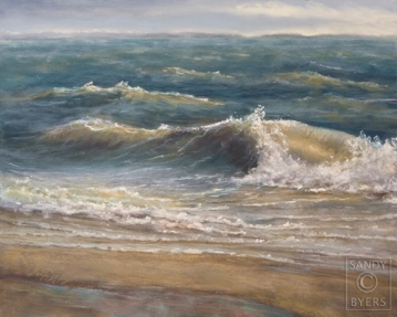 The Seventh Wave pastel painting
