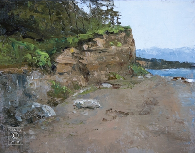 West Beach Wonder SOLD (11x14 oil on panel). she calls and she calls. she is from the west side and I can not resist.