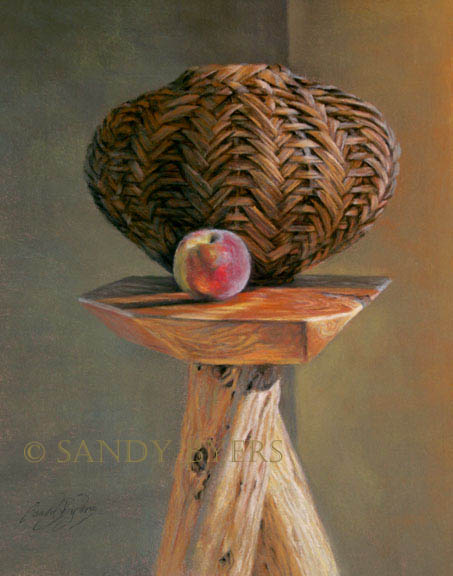 Just Peachy SOLD (20x16 dry pastel). i have a new-found respect for baskets.
