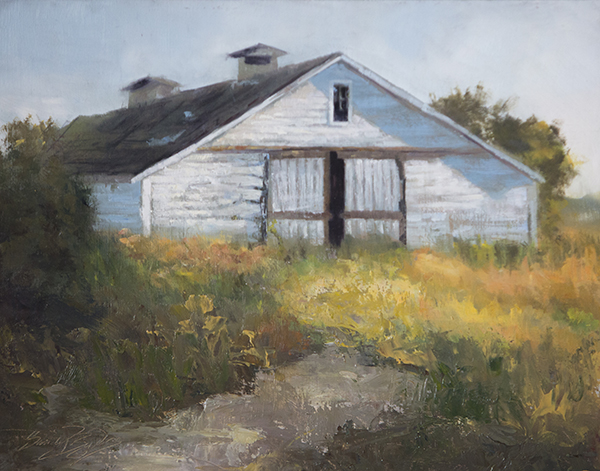 Skagit Barn SOLD (11x14 oil on panel). hide your dust and share your light.