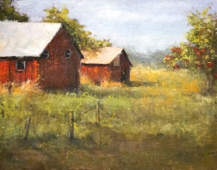 Corner Farm $925 (11x14 oil on panel). I come back again and again, year after year.
